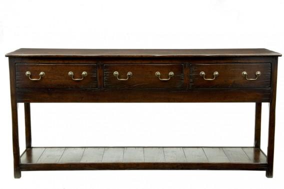 Oak potboard dresser base