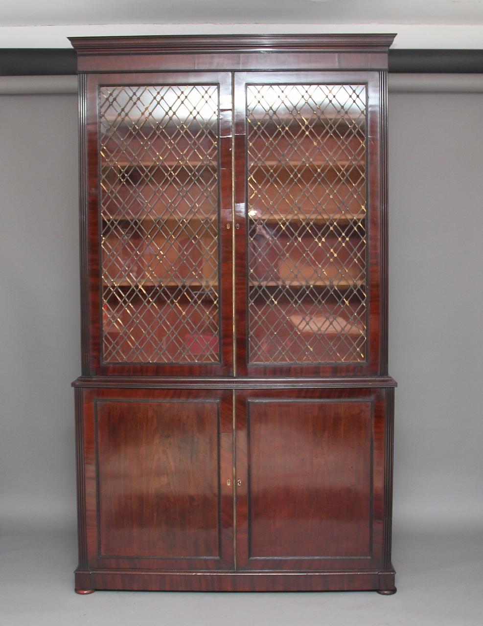 Large Regency Mahogany Bookcase